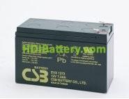 Bateria de Plomo EVX-1272 CSB 12 Voltios 7,2 Amperios